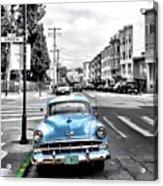 Green Street Acrylic Print by Julie Gebhardt