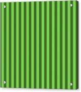 Green Striped Pattern Design Acrylic Print