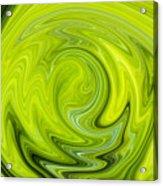Green Swirl Acrylic Print