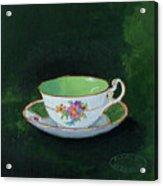 Green Teacup Acrylic Print