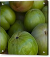 Green Tomatoes Acrylic Print by Robert Ullmann