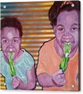 Green-tongued Cousins 2014 Acrylic Print
