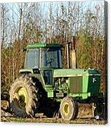 Green Tractor Acrylic Print