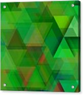 Green Triangles Over Green Mist Acrylic Print