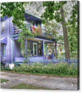 Green Trim Gaudy-otherwise Understated Acrylic Print by David Bearden
