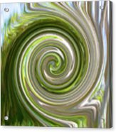 Green Twirl Acrylic Print