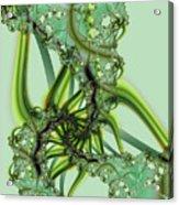 Green Vines Acrylic Print