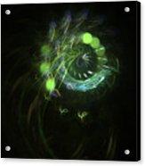 Green Vortex - Panel 3 Acrylic Print