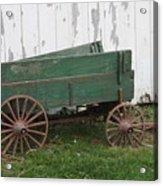 Green Wagon Acrylic Print