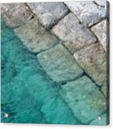 Green Water Blocks Acrylic Print
