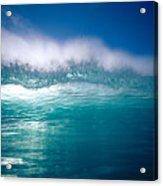 Green Wave Acrylic Print