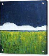 Green Wheat Field Acrylic Print