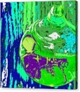 Green Whirl Acrylic Print