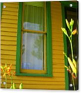 Green Window Acrylic Print