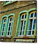 Green Windows Acrylic Print