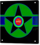 Green With Blue Acrylic Print