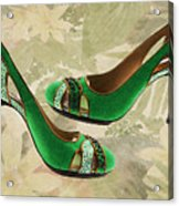 Green With Envy Pumps Acrylic Print