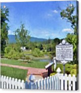Greenbrier County Historical Marker In Alderson West Virginia Acrylic Print
