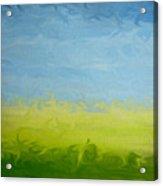 Greener Pasture 3- Digital Painting Acrylic Print