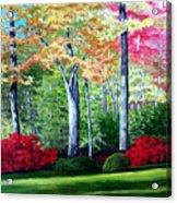 Greenfield Lake Garden Acrylic Print
