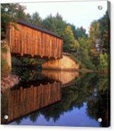 Greenfield Nh Covered Bridge Acrylic Print