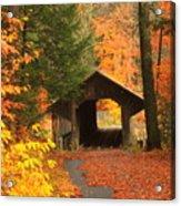 Greenfield Pumping Station Bridge Autumn Acrylic Print