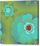 Greenfloral Acrylic Print