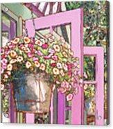 Greenhouse Doors Acrylic Print