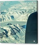 Greenland From Flight Level 380 Acrylic Print