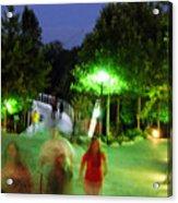 Greenville At Night Acrylic Print