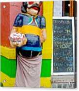 Greeter At Pizzeria In La Boca Area Of Buenos Aires-argentina- Acrylic Print