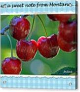 Greeting Card - Cherries #1 Acrylic Print