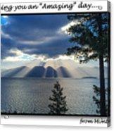 Greeting Card - Flathead Lake Acrylic Print
