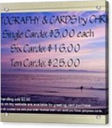 Greeting Card Pricing Info Acrylic Print