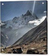 Greeting To Mountain By Sun Acrylic Print