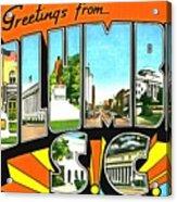 Greetings From Columbia South Carolina Acrylic Print