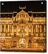 Gresham Palace Holiday Lights Painterly Acrylic Print
