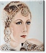 Greta Garbo As Matahari Acrylic Print