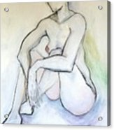 Gretchen - Female Nude Drawing Acrylic Print