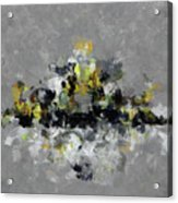Grey And Yellow Abstract Cityscape Art Acrylic Print