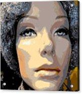 Grey Glitter Gertrude Acrylic Print