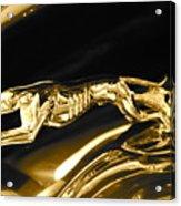 Greyhound hoood ornament Acrylic Print