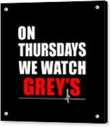 Grey's Anatomy Acrylic Print