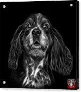 Greyscale Cocker Spaniel Pop Art - 8249 - Bb Acrylic Print