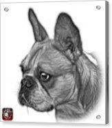 Greyscale French Bulldog Pop Art - 0755 Wb Acrylic Print