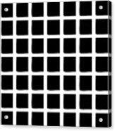 Black Squares Acrylic Print