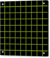 Grid Boxes In Black 09-p0171 Acrylic Print