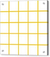 Grid Boxes In White 05-p0171 Acrylic Print