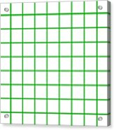 Grid Boxes In White 09-p0171 Acrylic Print