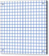 Grid Boxes In White 18-p0171 Acrylic Print